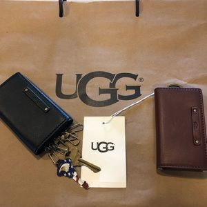 UGG Leather Keycase - Brown and Black - New!